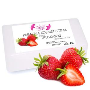 Obrazek Parafina kosmetyczna TRUSKAWKA, kostka 400 ml