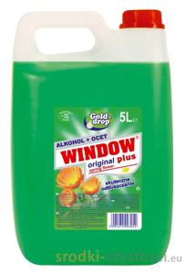 Obrazek Płyn do mycia szyb Window z alkoholem i octem 5l. Płyn do szyb z alkoholem i octem