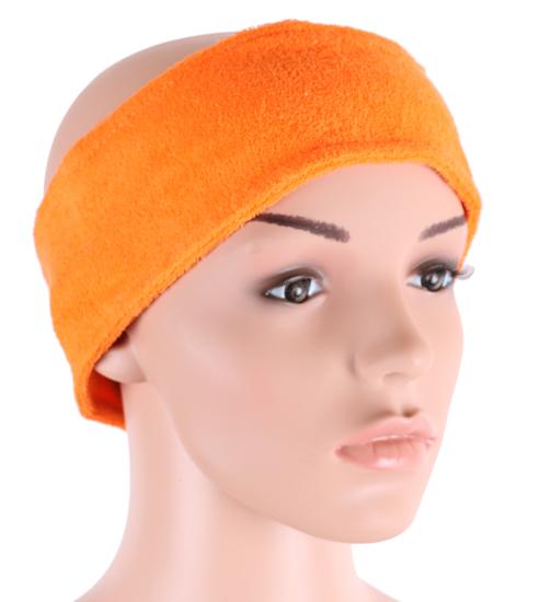Obrazek Opaska na włosy z froty Opaski kosmetyczne na włosy Kolor oranż nr 7 Komplet 2 szt.