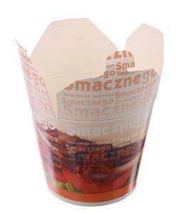 """Obrazek Jednorazowe opakowanie na wynos, kebab box """"smacznego"""" 750 ml 50 sztuk"""