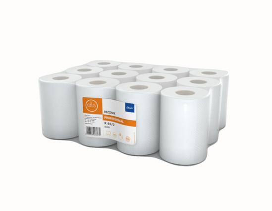Obrazek Ręczniki papierowe 60 m Ręcznik jednorazowy papierowy klejony 2 Warstwowy FI-14 60 m 1 rolka KOD-R60/2