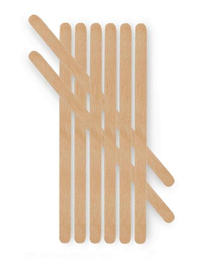 Obrazek Szpatułki do wosku wąskie mini 1000 szt. Szpatułki drewniane do nakładania wosku przy depilacji.