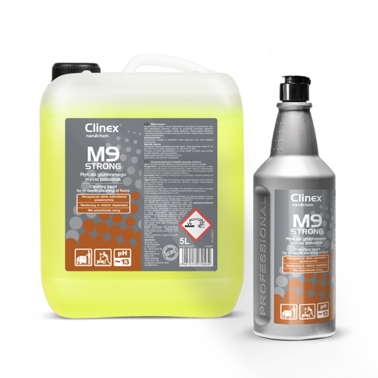 Obrazek Clinex M9 Strong płyn do gruntownego mycia posadzek 1L