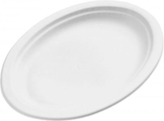 Obrazek Jednorazowy talerz owalny styropianowy mały 50 szt