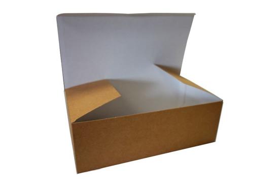 Obrazek Jednorazowe pudełko na wynos opakowanie na kurczaka BEZ NADRUKU 16x10x6cm 100szt