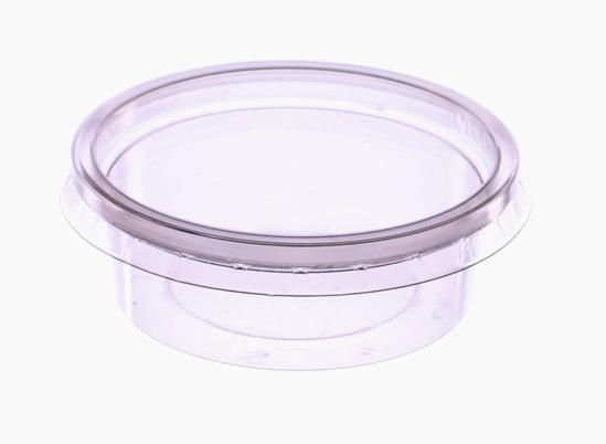 Obrazek Jednorazowy pojemnik na sos 80 ml  Pojemniki na sos z przykrywką Komplet 100 sztuk