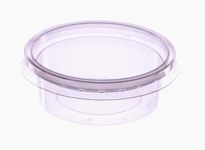 Obrazek Jednorazowy pojemnik  na wynos 250 ml Pojemniki jednorazowe plastikowe okrągłe z przykrywką Komplet 100 sztuk  8113 + 017C