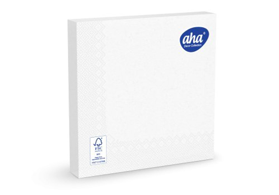 Obrazek Serwetki papierowe jednorazowe 40x40 serwetka 3 warstwowa biała 100 sztuk