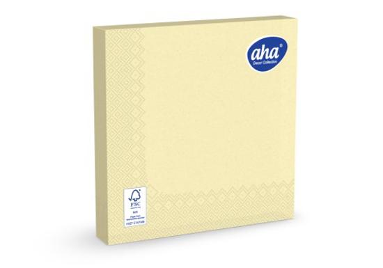 Obrazek Serwetki papierowe jednorazowe 40x40 serwetka 3 warstwowa kolor szapan 100 sztuk