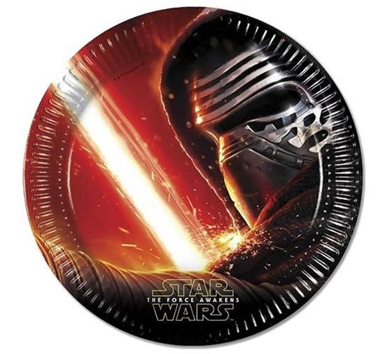 """Obrazek WYPRZEDAŻ Talerze Gwiezdne Wojny """"Star Wars"""" Opakowanie 8 sztuk WYPRZEDAŻ -15%"""