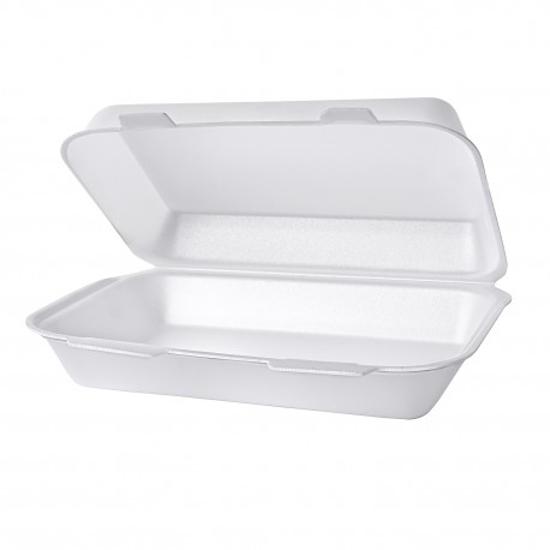 Obrazek WYPRZEDAŻ Pojemnik menubox styropianowy niedzielony 20 sztuk WYPRZEDAŻ -15%