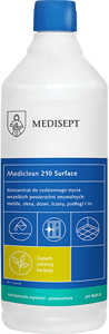 Obrazek Mediclean MC 210 Surface Zielona herbata Koncentrat płyn do czyszczenia zmywalnych powierzchni 1L