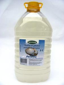 Obrazek Mydło antybakteryjne 5l WOTON. Mydło w płynie perłowe