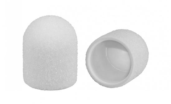 Obrazek Kapturki ścierne 13 mm gradacja 80 10 szt. Nakładki ścierne 13 mm gradacja 80 10 szt. Nakładki ścierne plastikowe lux białe