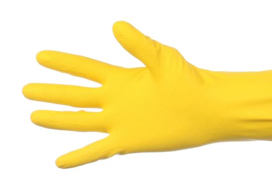 Obrazek Rękawiczki gumowe S Rękawice gospodarcze gumowe S żółte 1 para