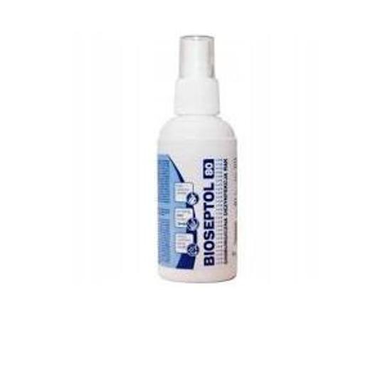 Obrazek Płyn do dezynfekcji rąk ze spryskiwaczem 100 ml BIOSEPTOL 80 płyn do chirurgicznej dezynfekcji rąk