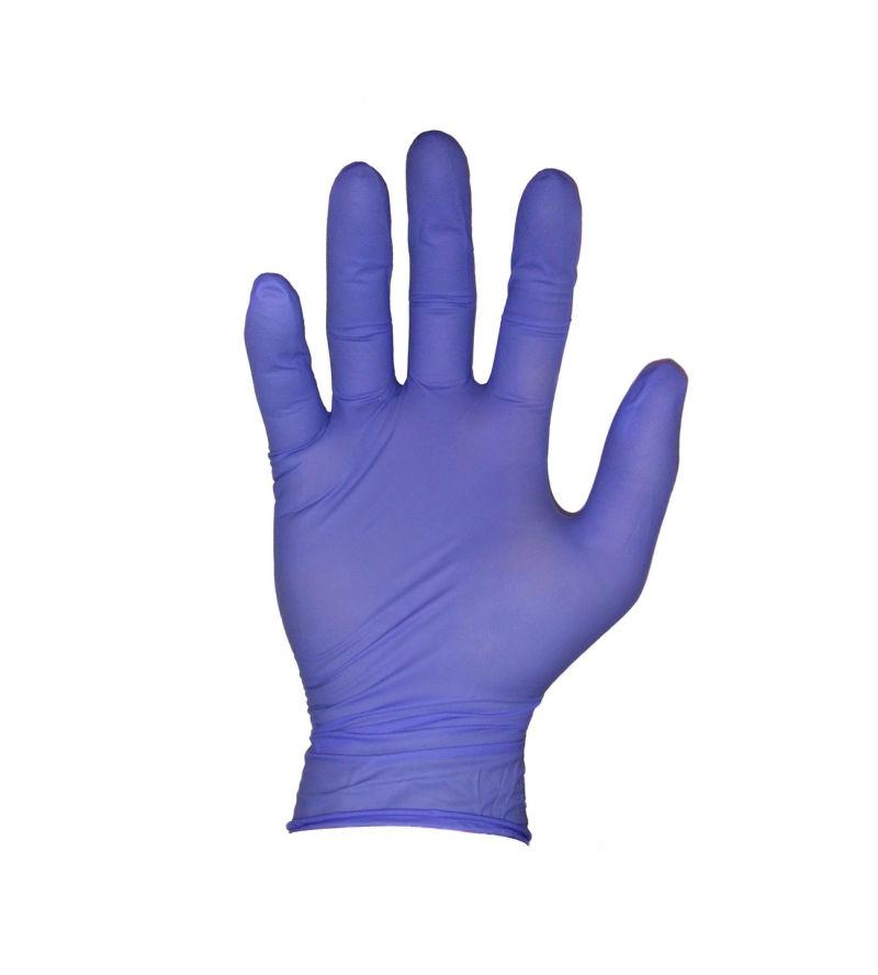 Obrazek Rękawiczki nitrylowe bezpudrowe fioletowe M 100 sztuk. Rękawice diagnostyczne nitrylex® complete mercator 100 szt.