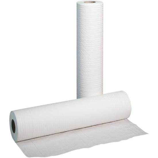 Obrazek Podkład higieniczny 50 cm 80 m Prześcieradło jednorazowe papierowe 50/80 m 1 rolka Prześcieradła polskie