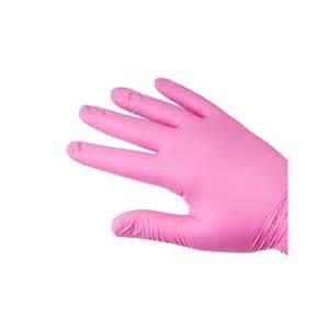 Obrazek Rękawice medyczne Rękawiczki nitrylowe bezpudrowe PINK L 100 sztuk