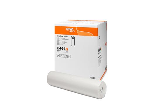 Obrazek Podkład higieniczny 50 cm 48 m. Prześcieradło jednorazowe papierowe ekonomiczne 75% celulozy 50/48 m 1 rolka CELTEX 6464S Prześcieradła włoskie
