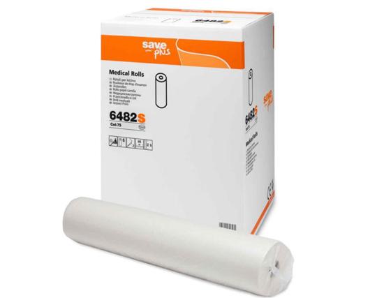 Obrazek Promocja !!! Podkład higieniczny 60 cm 69 m Prześcieradło jednorazowe papierowe ekonomiczne 75% celulozy 60/69 m 1 karton 6 rolek CELTEX 6482S Podkłady włoski