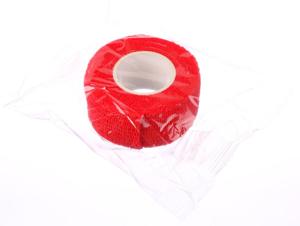 Obrazek Bandaż ochronny do manicure szerokość 25 mm, długość 2,5 m kolor czerwony