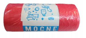 Obrazek Worki na śmieci ecostrong mocne różowe Worki na odpady medyczne HDPE 60l 50 szt.