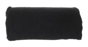 Obrazek Pokrowiec frotte na poduszkę do manicure. Pokrowiec na wałek do manicure frotte 30x15 cm wysokość 7 cm NR. 28 CZARNY