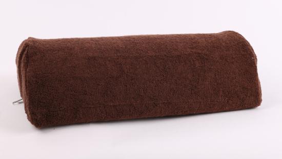 Obrazek Pokrowiec frotte na poduszkę do manicure. Pokrowiec na wałek do manicure frotte 30x15 cm wysokość 7 cm NR. 30 CZEKOLADA