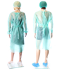 Obrazek Fartuch jednorazowy ochronny medyczny Fartuchy jednorazowe z zielonej włókniny M/L 10 sztuk certyfikat medyczny gramatura 25/m2