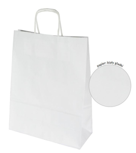 Obrazek Torba papierowa biała 305x170x340 mm Torby papierowe z uchem Opakowanie 11 szt.