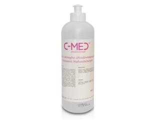Obrazek Żel do zabiegów ultradźwiękowych z kwasem hialuronowym C-MED professional 500 ml Żelpol CARE