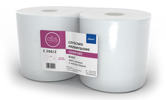 Obrazek Ręczniki papierowe Ręcznik papierowy 190 m 1 rolka Czyściwo białe C200