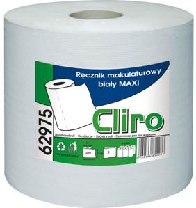 Obrazek Ręcznik papierowy z makulatury CLIRO 65% BIAŁOŚCI Ręczniki papierowe makulaturowe FI 19 138 m 1 rolka