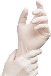 Obrazek Rękawice medyczne Rękawiczki jednorazowe lateksowe pudrowane 100 szt. Rozmiar XS