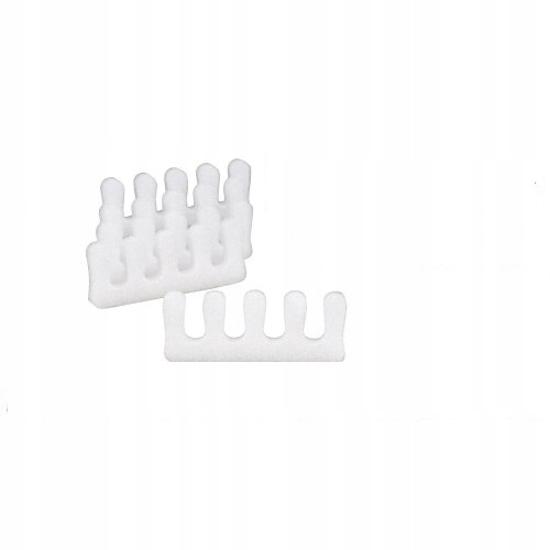Obrazek HURT Jednorazowe separatory do pedicure białe. Separatory do stóp z miękkiej pianki. Opakowanie 5520 par ( 184 opakowań po 30 par )