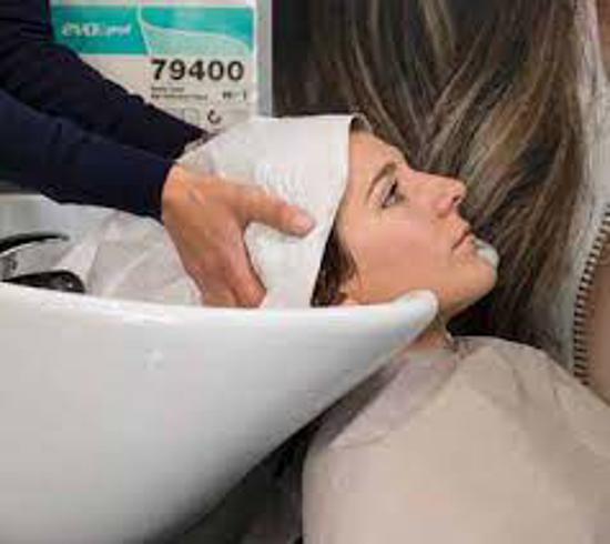Obrazek Jednorazowe ręczniki fryzjerskie 40x80 cm Ręcznik fryzjerski AILRAID mocno chłonne z celulozy z domieszką włókniny 50 szt.