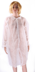 Obrazek Fartuch jednorazowy ochronny z białej włókniny Fartuchy jednorazowe XL/XXL 1 sztuka