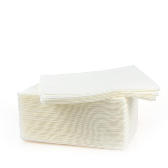 Obrazek Ręczniki z włókniny SOFT PLUS Chusty zabiegowe 35x50 cm Chusteczki kosmetyczne Myjki jednorazowe z miękkiej włókniny 35 cm 50 cm Kolor biały 100 szt.