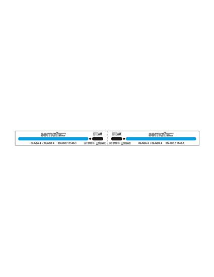Obrazek KD Test chemiczny Test wieloparametrowy kl.4 para wodna Wskaźniki do kontroli procesu sterylizacji parą wodną opakowanie 500 szt. ( 2x250 ) 205x16 mm