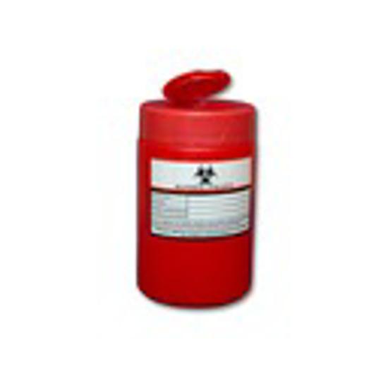 Obrazek Pojemniki na zużyty sprzęt medyczny. Pojemnik na odpady medyczne, kosmetyczne 1 L okragły