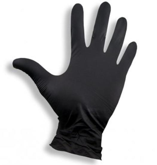 Obrazek Rękawice nitrylowe czarne Rękawiczki jednorazowe nitrylowe bezpudrowe  100 sztuk Rozmiar M