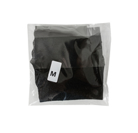 Obrazek Stringi jednorazowe damskie czarne z miękkiej przewiewnej włókniny  Stringi kosmetyczne do SPA stringi z ozdobnym wycięciem z przodu Rozmiar M 10 sztuk