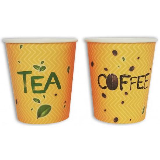 Obrazek Kubek jednorazowy do kawy herbaty Kubki jednorazowe COFFEE TEA 0,25L / 250 ml 50 szt.