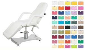 Obrazek Prześcieradło kosmetyczne frotte. Pokrowiec na fotel kosmetyczny owalny standardowy 60x190 cm w kolorze JASNY SZARY (GOŁĘBI) nr 29