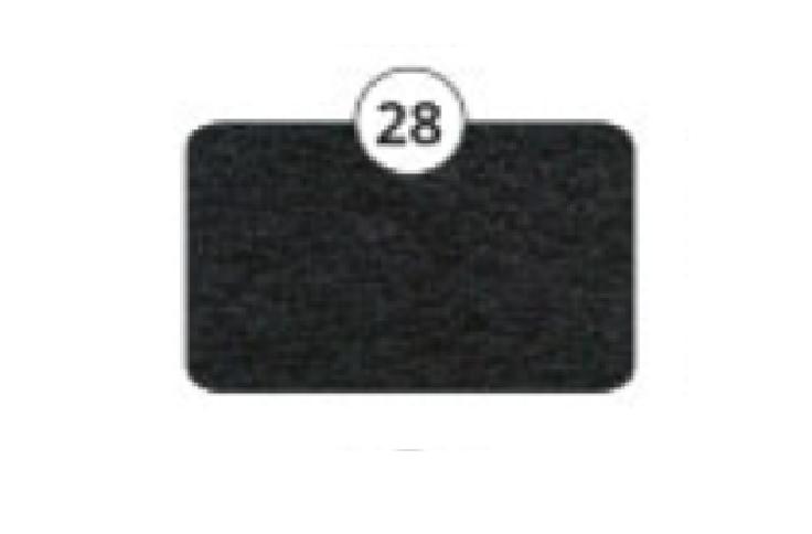 Obrazek Prześcieradło kosmetyczne frotte. Pokrowiec na fotel kosmetyczny owalny 60x190 cm w kolorze czarnym nr 28