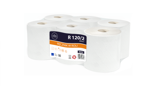 Obrazek Ręczniki papierowe Ręcznik papierowy 120 m 6 rolek Lamix R 120/2