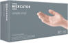 Obrazek Rękawiczki jednorazowe winylowe bezpudrowe  MERCATOR® Simple Vinyl (PF) 100 szt. Rozmiar L